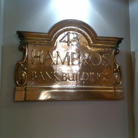 Original Hambros Plaque