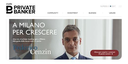 Federico Cenzin (AlpenBank), a Milano per crescere