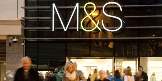 Marks and Spencer and Tesco drag FTSE from high