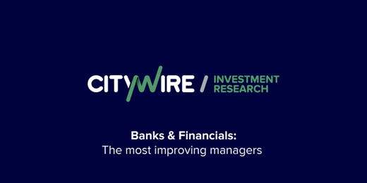 The three most improved banks and financials managers