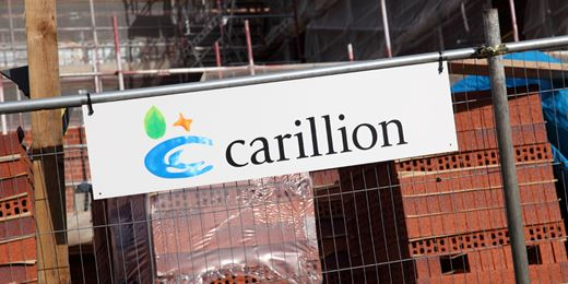 FTSE falls and Carillion crashes as debt bites
