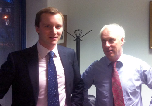 Charlie Hinchliffe meets with Tilman Brewin Dolphin's Ray Tilson in Dublin
